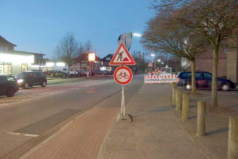 Bausttenbeschilderung Eckernförder Straße RD