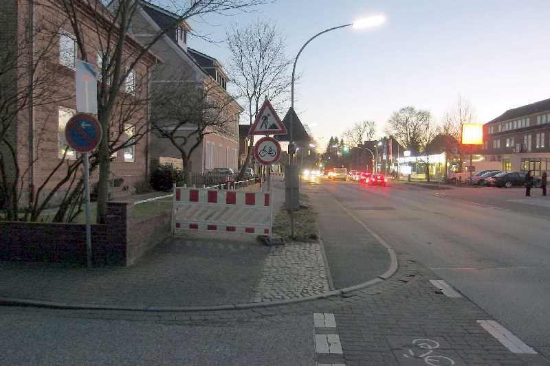 Blick von der Einmündung der Vinzierstraße