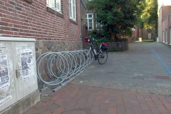 Fahrradparken hinter dem Alten Rathaus